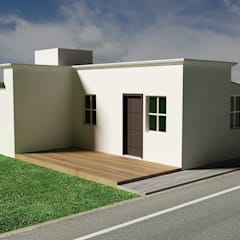 Casa DS19: Casas unifamiliares de estilo  por zerraestudio