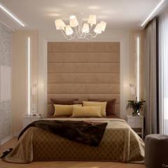 Дизайн спальни в стиле модернизм в квартире по ул. Артезианская, г.Краснодар: Спальни в . Автор – Студия интерьерного дизайна happy.design