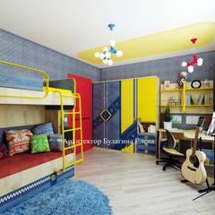 Projekty,  Pokój dla chłopca zaprojektowane przez Архитектурное Бюро 'Капитель'