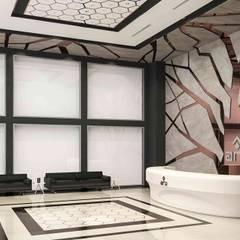 benna iç mimarlık – Ard Asansör Fabrikası 3: modern tarz Çalışma Odası