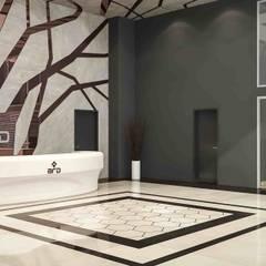 benna iç mimarlık – Ard Asansör Fabrikası 4: modern tarz Çalışma Odası