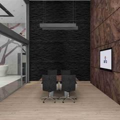 benna iç mimarlık – Ard Asansör Fabrikası 6: modern tarz Çalışma Odası