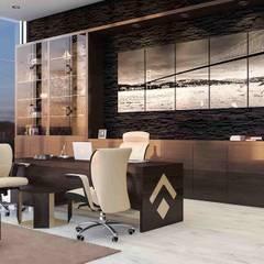 benna iç mimarlık – Ard Asansör Fabrikası 8: modern tarz Çalışma Odası