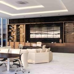 benna iç mimarlık – Ard Asansör Fabrikası 9: modern tarz Çalışma Odası
