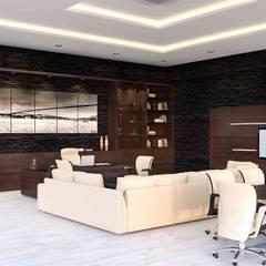 benna iç mimarlık – Ard Asansör Fabrikası 10: modern tarz Çalışma Odası