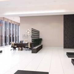 benna iç mimarlık – Ard Asansör Fabrikası 14: modern tarz Çalışma Odası
