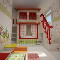 benna iç mimarlık – Bağdat caddesi çocuk odası 1:  tarz Kız çocuk yatak odası