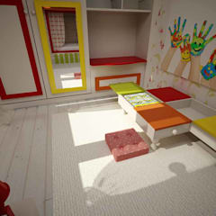 Teen bedroom by benna iç mimarlık, Modern Wood-Plastic Composite