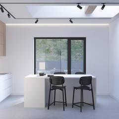 PROJEKT WNĘTRZ – DOM W ŻORACH: styl , w kategorii Kuchnia zaprojektowany przez Głogowscy Architektura + Wnętrza