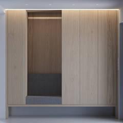 PROJEKT WNĘTRZ – DOM W ŻORACH: styl , w kategorii Korytarz, przedpokój zaprojektowany przez Głogowscy Architektura + Wnętrza