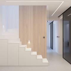 PROJEKT WNĘTRZ – DOM W ŻORACH: styl , w kategorii Schody zaprojektowany przez Głogowscy Architektura + Wnętrza