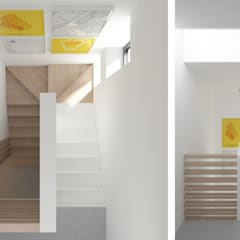 PROJEKT WNĘTRZ – DOM W JAWORZNIE: styl , w kategorii Schody zaprojektowany przez Głogowscy Architektura + Wnętrza