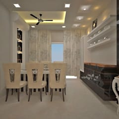 Contemporary interior project in kolkata: modern Dining room by Estate Lookup Interiors