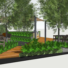 Trade Stand Concept for Chelsea Flower Show 2018:  Front garden by Aralia