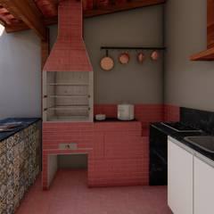 Built-in kitchens by Fark Arquitetura e Design