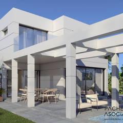 Villa en La Manga Club - Zona de descanso: Casas multifamiliares de estilo  de Pacheco & Asociados