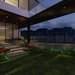 Terraza con Alberca: Terrazas de estilo  por Álzar