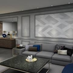 Sala: Salas de estilo ecléctico por Álzar
