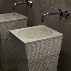 Freestanding Stone Wash Basins - Pedestal Stone Sinks - bathroom sinks:  Bathroom by Lux4home™ Indonesia