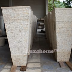 Cream marble pedestal wash basin - standing stone sink granite sinks:  Garden Pond by Lux4home™ Indonesia