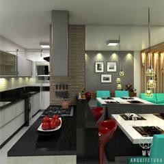 Apartamento 48 m² por WV ARQUITETURA Industrial