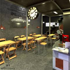 Área interna: Espaços gastronômicos  por WV ARQUITETURA