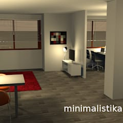 Loft Familiar - Santa Anita - Lima: Salas / recibidores de estilo  por Minimalistika.com,