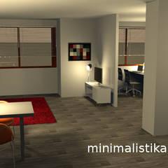 Loft Familiar: Salas / recibidores de estilo minimalista por Minimalistika.com