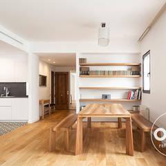 salon comedor cocina abierto: Comedores de estilo  de osb reformas