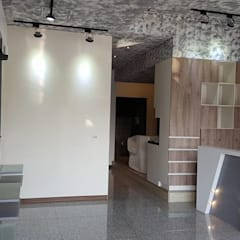 混搭風髮廊。大園:  商業空間 by 藝舍室內裝修設計工程有限公司