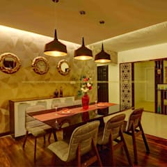 Apartment Interior at Sobha City:  Dining room by MAAD Concepts