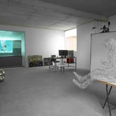 Cocheras abiertas de estilo  por Alberich-Rodríguez Arquitectos