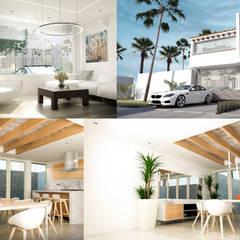 Casa Mazatlan: Casas de estilo mediterraneo por Cuarto FS