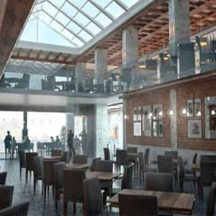 Restaurante SIUX'S: Comedores de estilo rústico por Cuarto FS