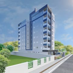 : Casas geminadas  por MVK Arquitetura, Engenharia e Construções