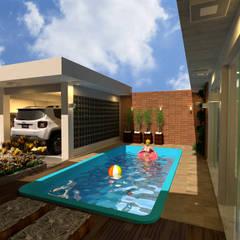 Infinity pool by MVK Arquitetura, Engenharia e Construções, Modern