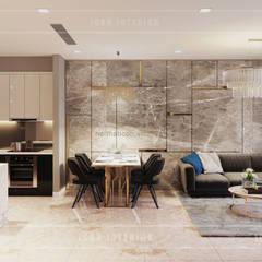 Sang trọng đẳng cấp với nội thất mạ Titan trong căn hộ Vinhomes Golden River:  Phòng ăn by ICON INTERIOR