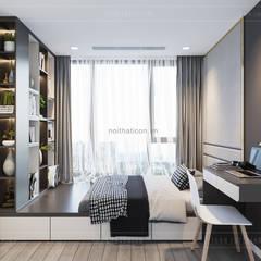 Sang trọng đẳng cấp với nội thất mạ Titan trong căn hộ Vinhomes Golden River:  Phòng trẻ em by ICON INTERIOR,