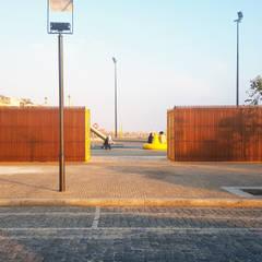 Parque Lúdico e Desportivo Bruno Alves - Accoya por Banema S.A. Moderno Madeira Acabamento em madeira