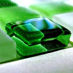 Зеленое стекло: Лестницы в . Автор – Zстекло, Модерн Стекло