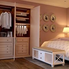 Интерьер спальни: Спальни в . Автор – студия Design3F