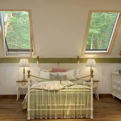 Интерьер квартиры в стиле прованс: Спальни в . Автор – студия Design3F