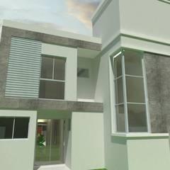 Residencial Multifamiliar 2 Unidades: Casas geminadas  por MVK Arquitetura, Engenharia e Construções
