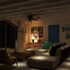 Salas / recibidores de estilo mediterraneo por студия Design3F