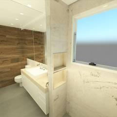Banho Suíte: Banheiros minimalistas por Studio All Arquitetura