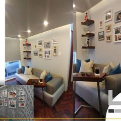 SALA DE ESTAR: Salas de entretenimiento de estilo  por B+ Studio