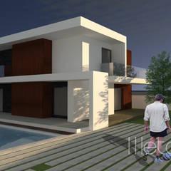 Casa AT Casas minimalistas por Método-Arquitectura & Decoração Minimalista Madeira Acabamento em madeira