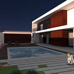 Casa AT: Piscinas de jardim  por Método-Arquitectura & Decoração