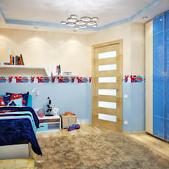 Nursery/kid's room by студия Design3F,