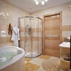 Ванная комната в бежевых тонах: Ванные комнаты в . Автор – студия Design3F